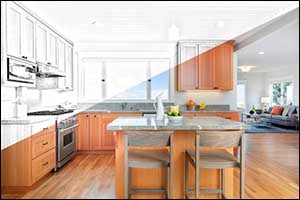 Custom Designed Kitchen and Bathroom in Fall River